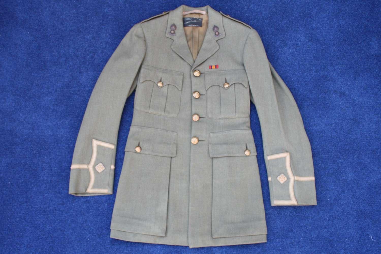 WW1 BRITISH ARMY CUFF RANK TUNIC TO ROYAL ENGINEERS 2nd LIEUTENANT
