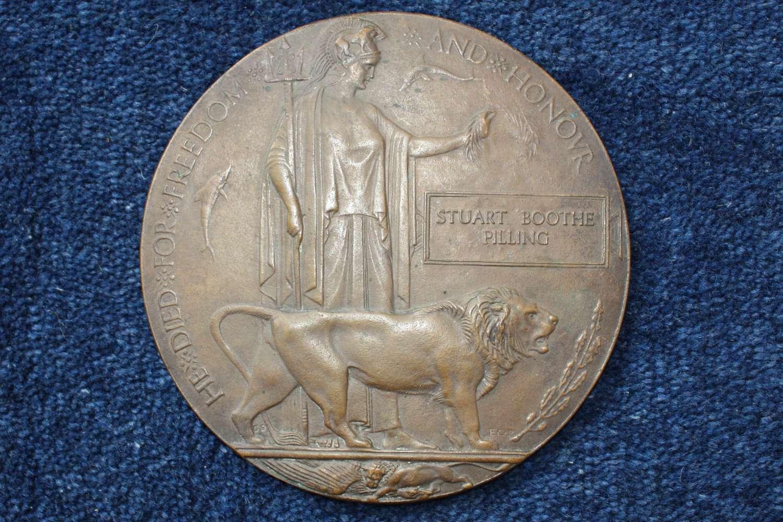 WW1 Death Plaque: Gallipoli Stuart Boothe Pilling Manchester Regiment
