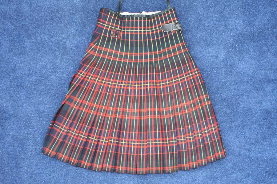Post WW1 Queen's Own Cameron Highlanders Officer's Kilt