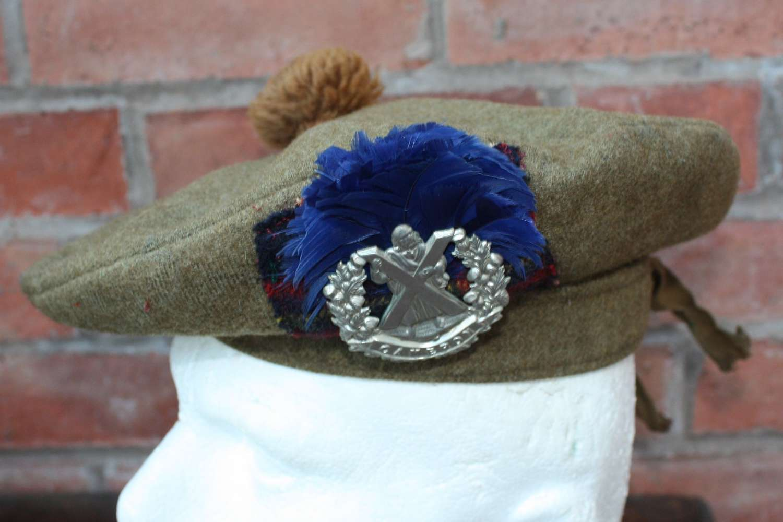 BRITISH ARMY WW1 SCOTTISH TAM O SHANTER CAMERON HIGHLANDERS 1918.