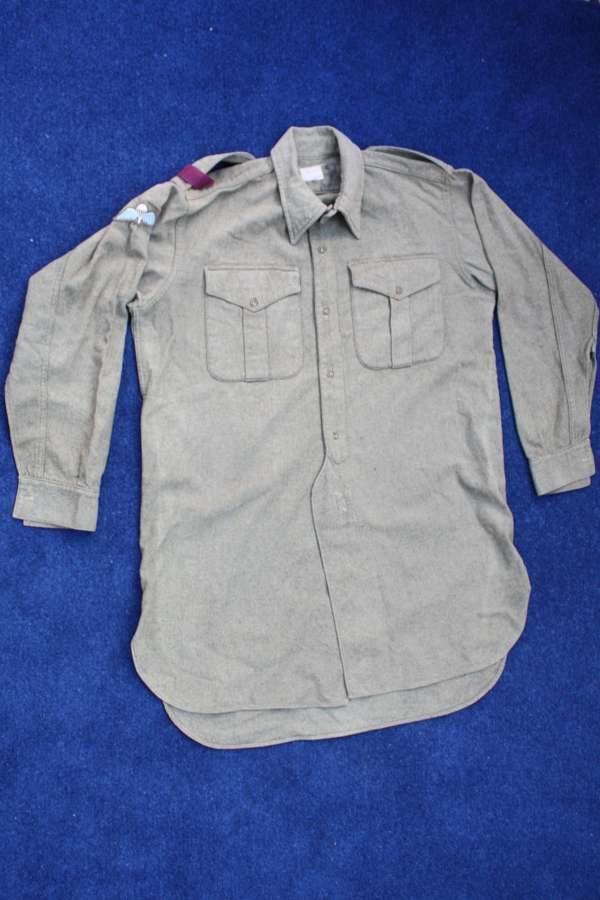 Genuine British Army Parachute Regiment 1953 Wool Olive Green Shirt