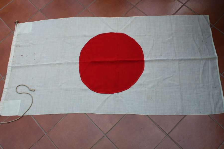 WW2 1939 - 1945 Japanese 'Meatball' flag. Large Size 74 x 36 inches.