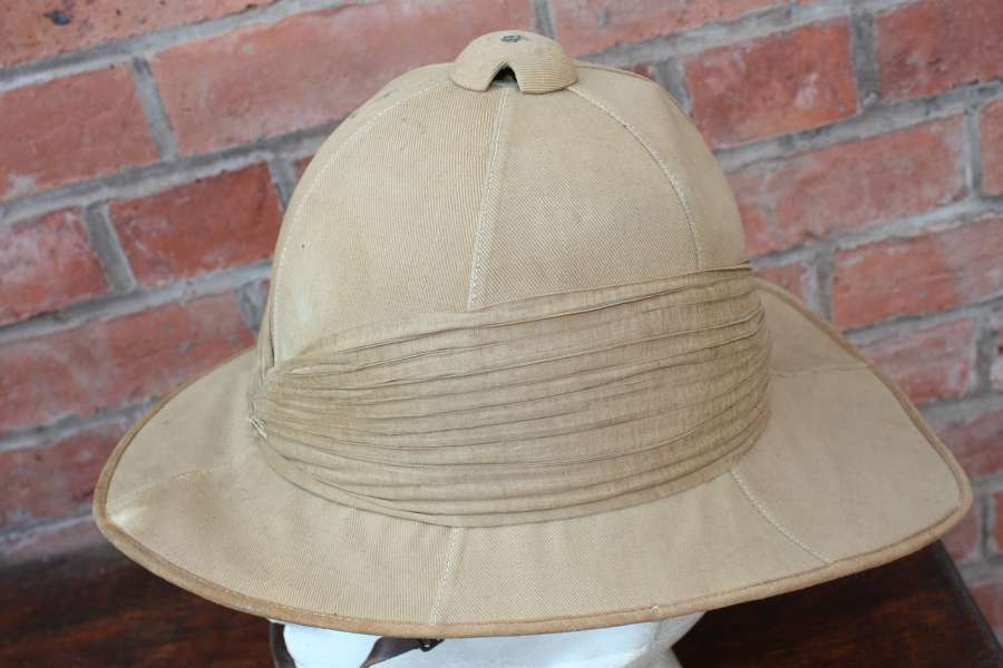 POST WW1 BRITISH ARMY OFFICERS PITH HELMET