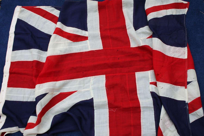 ORIGINAL BRITISH UNION JACK FLAG. LARGE SIZE VINTAGE