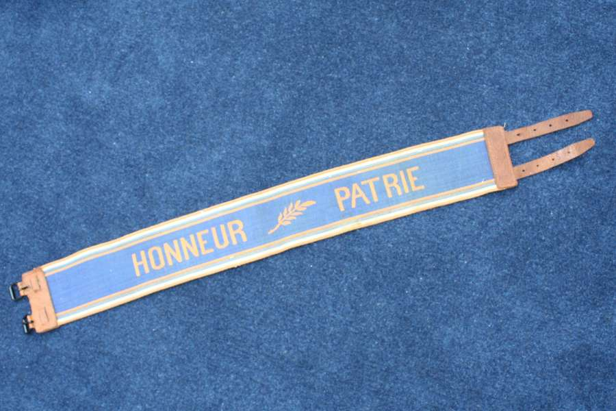WW1 French Stable belt 'Honneur Patrie' In excellent condition.