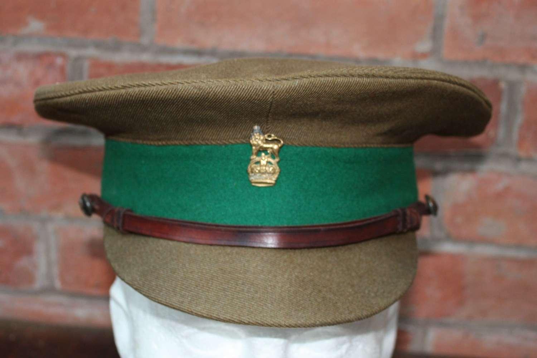 BRITISH WW1 1905 PATTERN OFFICERS KHAKI SERVICE DRESS CAP.