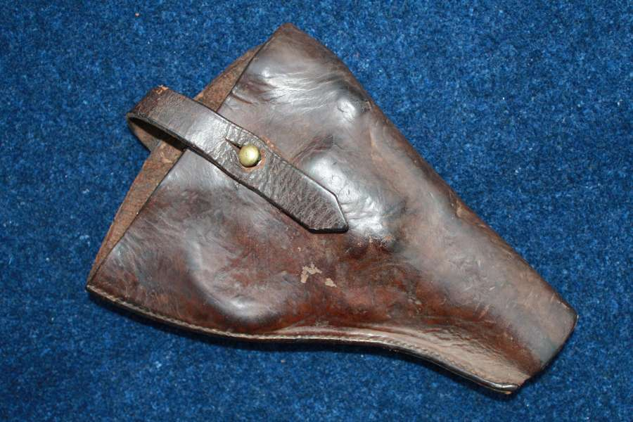 Boer War 1900 British Army Leather Revolver Holster converted to 08