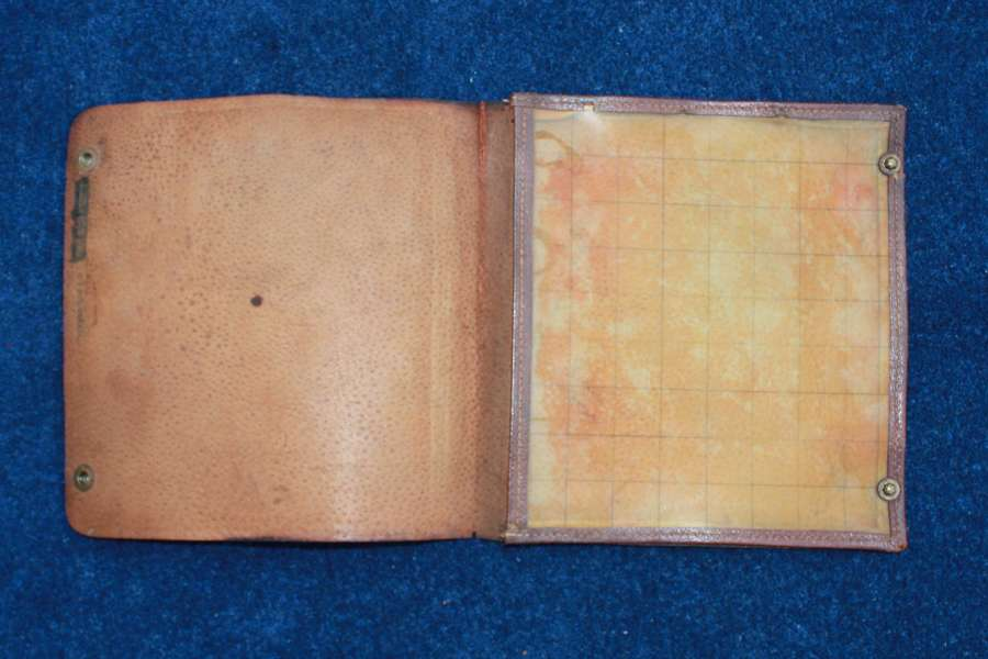 WW1 British Officers Map Case stamped 'Harrods' Book Department.