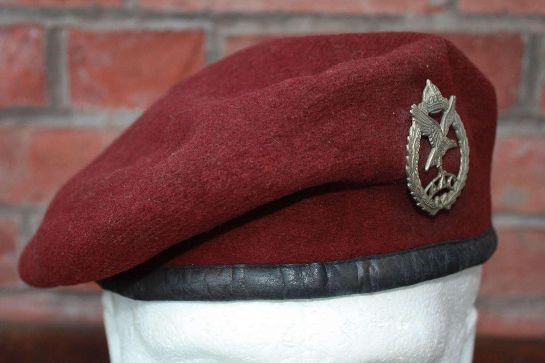 1943 Dated Airborne Parachutist Trooper's Maroon Beret: AAC