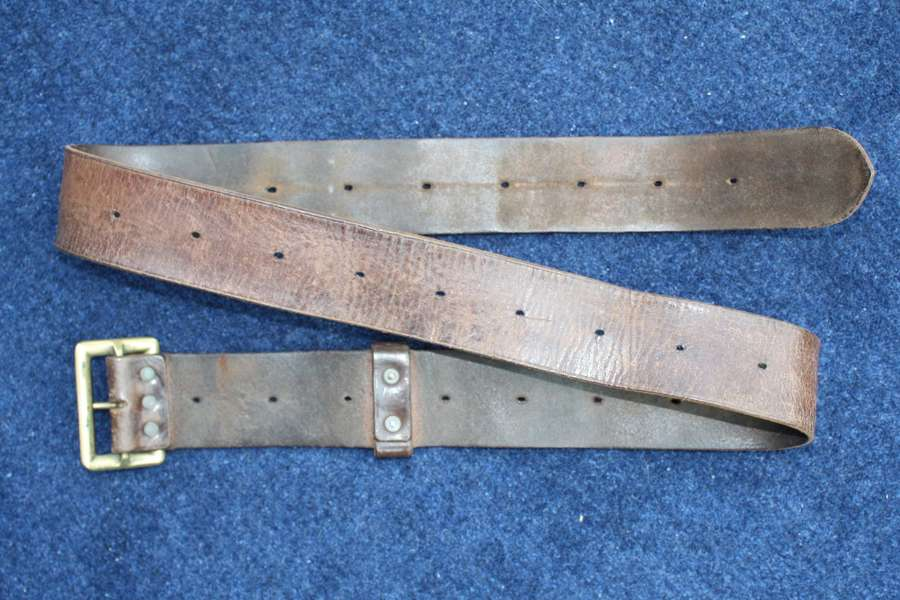 1903 pattern British Army Other Ranks Leather Belt. Dated 1917