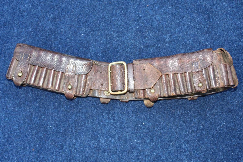 Boer War British Army leather bandolier / belt