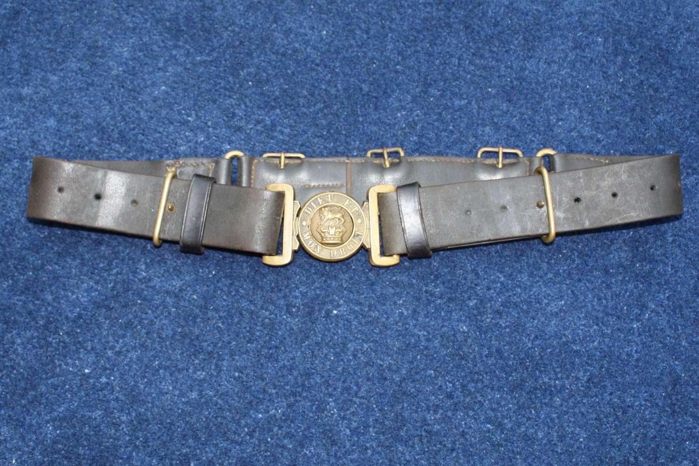 Boer War British Army leather belt. Queen Victoria Crown.