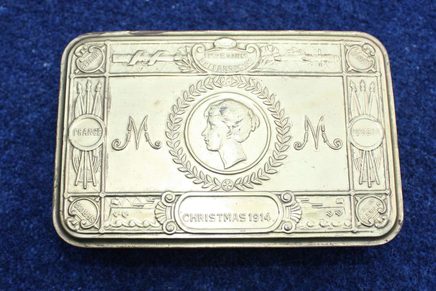 WW1 PRINCESS MARY CHRISTMAS 1914 TIN