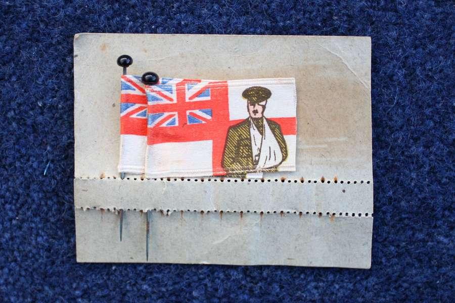 WW1 British Charity Pin Flags on original card.