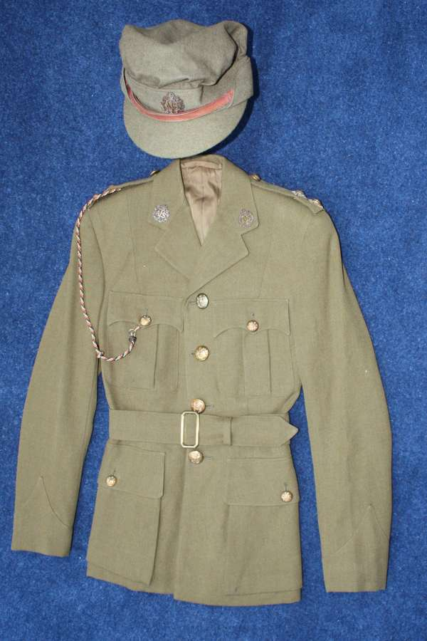 WW2 ATS WOMEN'S 'AUXILIARY TERRITORIAL SERVICE' OFFICERS TUNIC & CAP