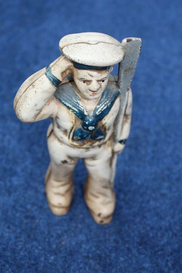 WW1 VINTAGE PATRIOTIC SAILOR MONEY BANK