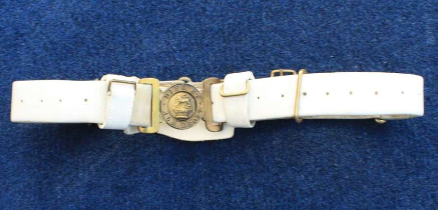 BRITISH ARMY 1888 PATTERN SLADE-WALLACE BUFF WAIST BELT & BUCKLE