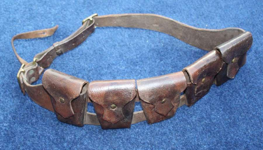 1903 PATTERN LEATHER AMMUNITION BANDOLIER FOR MOUNTED SOLDIERS