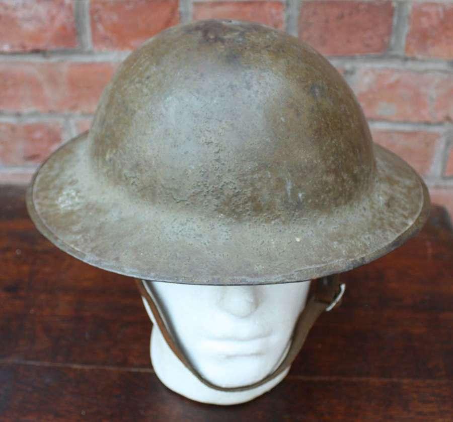 WW1 British Brodie Steel Helmet. HS 389.