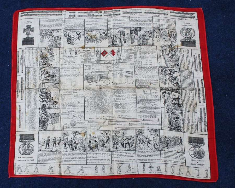 Victorian British Fultons Instructional Handkerchief Lee Metford Rifle