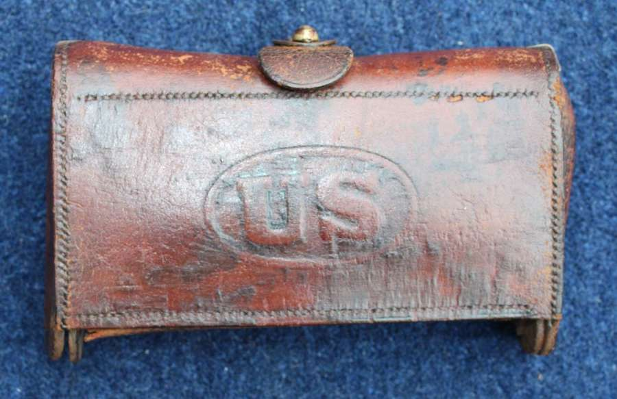 US Indian Wars Leather McKeever 1874 Cartridge case.