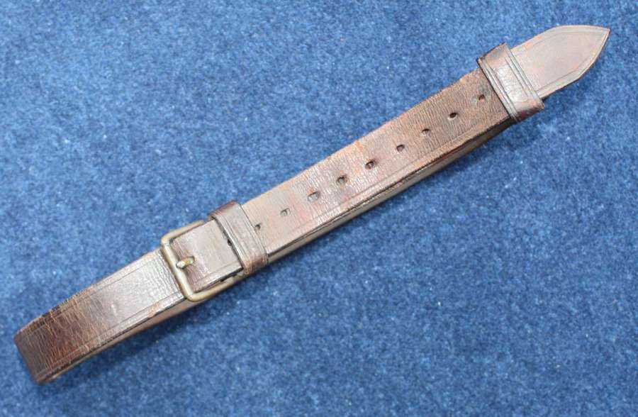 Vintage Boer War British & Empire Army leather belt.
