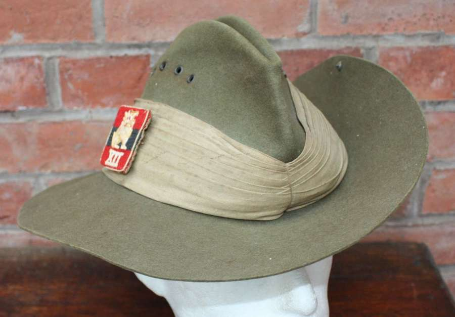 1944 Australian made Slouch Hat. 12th Army Burma. Size 7.