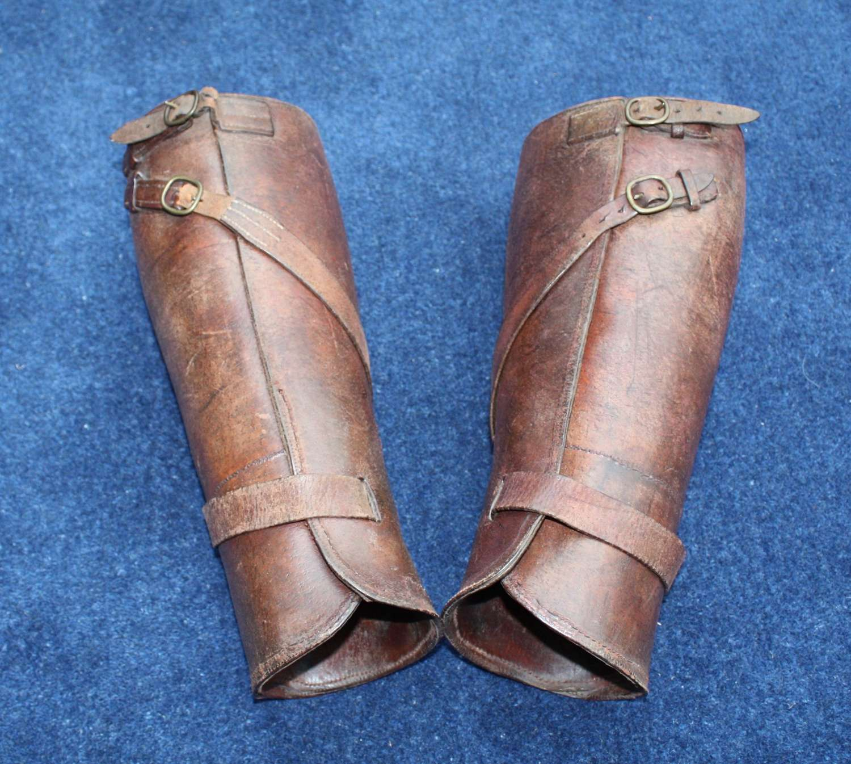 WWI British Army Officer's Stohwasser Type Leather Leggings