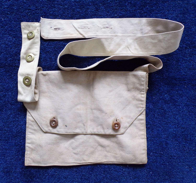 WW1 British PH Hood Gas Mask Bag.