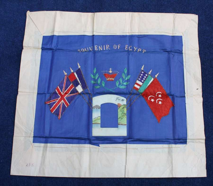 WW1 Silk Souvenir of Egypt Wall Hanging. Unused. Very good condition