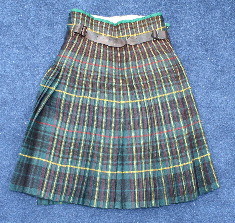 WW2, 1939 Dated Royal Scots Kilt Size 8. Excellent Condition.