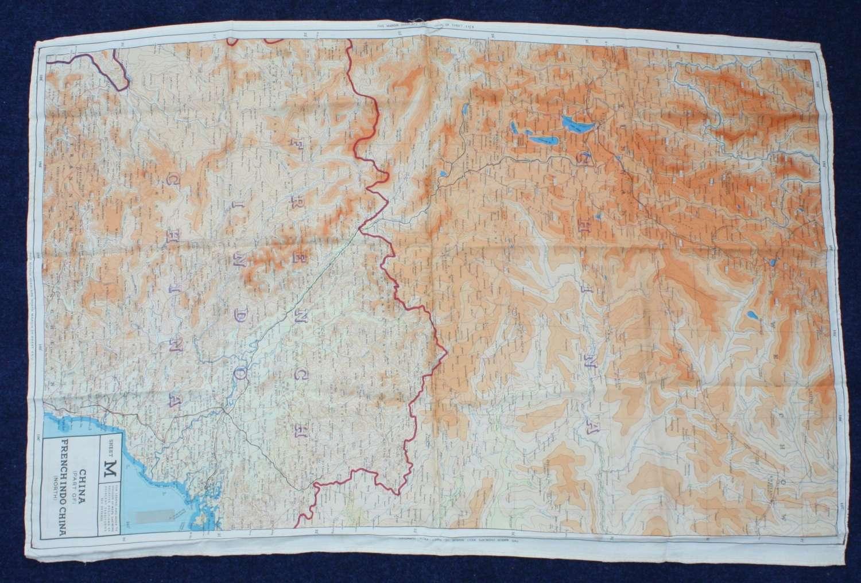 WW2 RAFIssue Silk Escape Map Far East: China & French Indo China