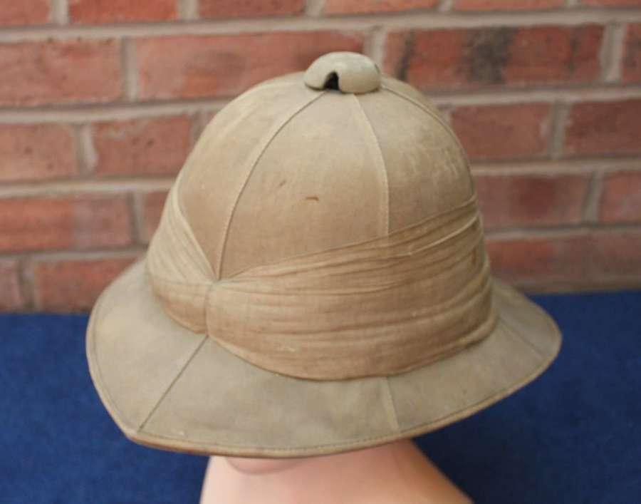 WW1 British Other Ranks 1917 Khaki Drill Pith Helmet Wolseley Pattern