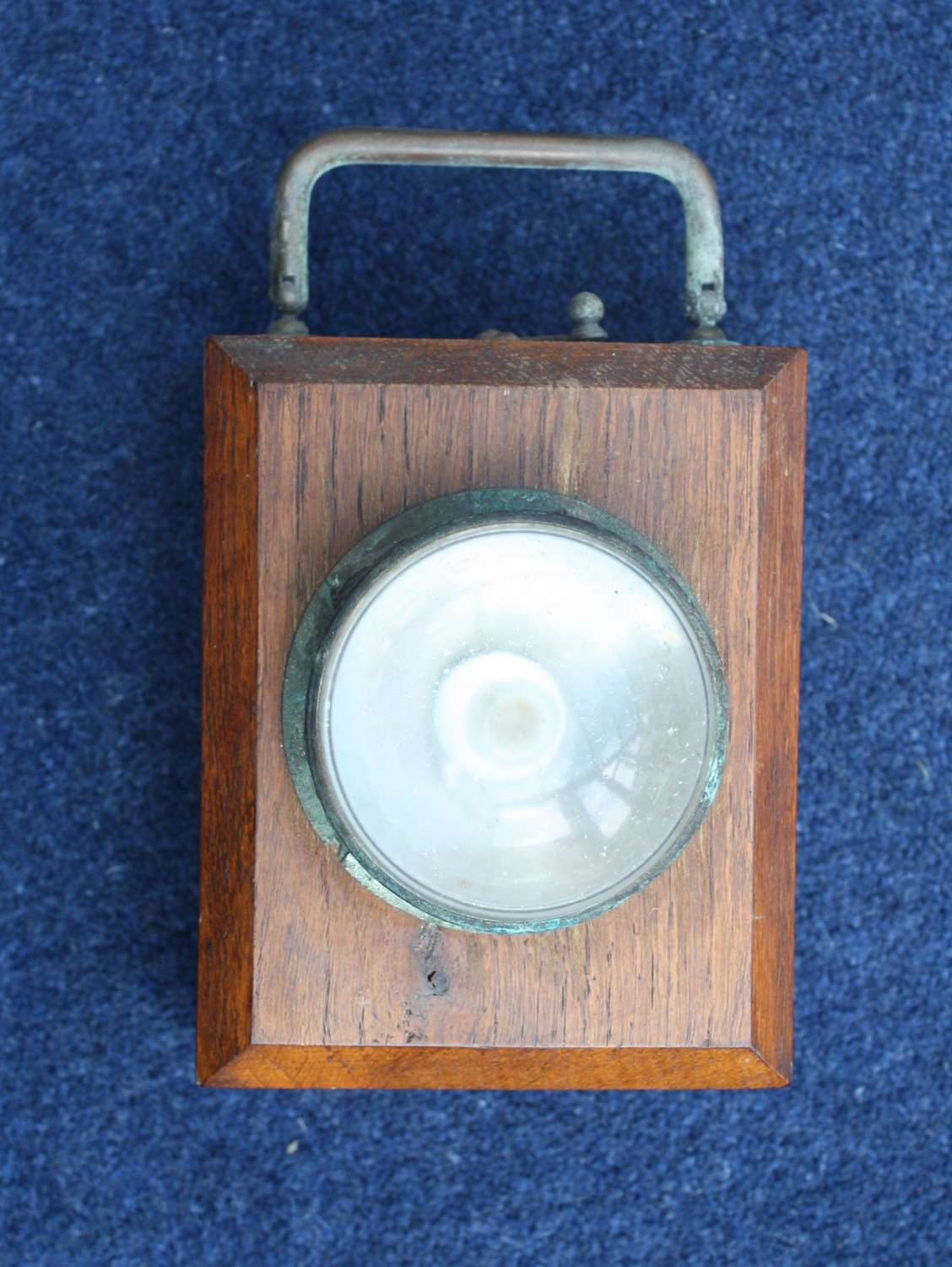 WW1 British Army Officers 'Ever ready' Wooden Trench lamp W.D.