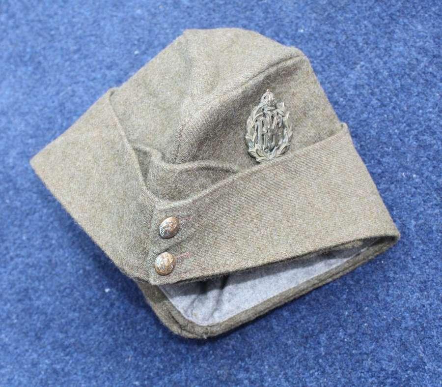 WW1 Other Ranks RFC Khaki Side Cap dated 1918
