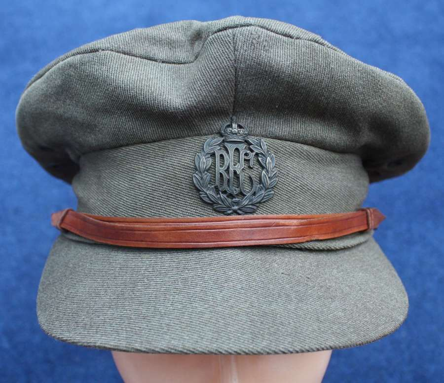 RFC WW1 BRITISH OFFICERS FLOPPY STYLE TRENCH CAP KILLED IN ACTION