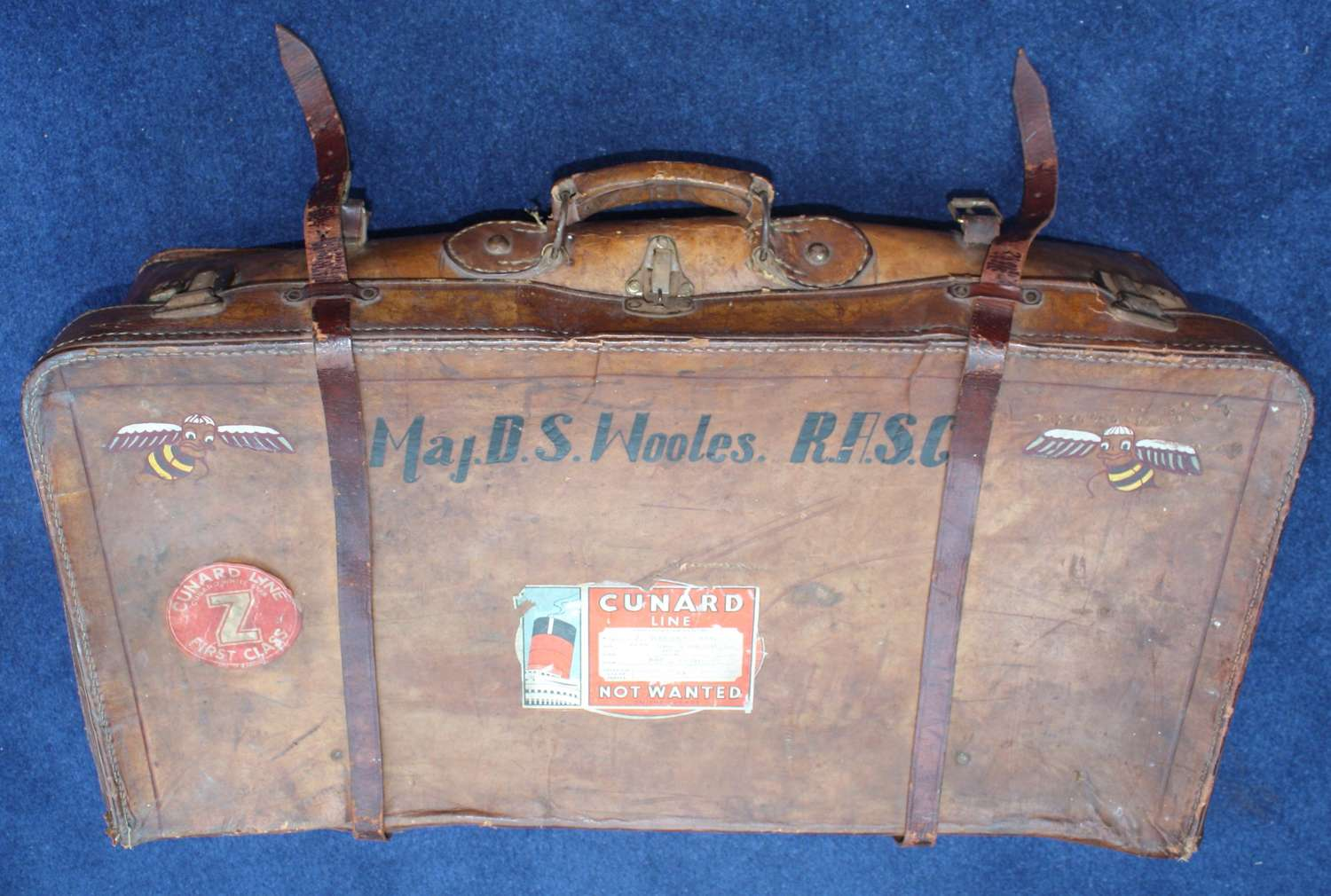 WW2 Leather Suitcase 6th Airborne Division British Army Officer's