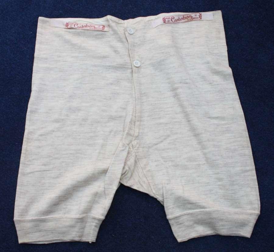 WW1 Era Men's wool underpants. Possibly British Army