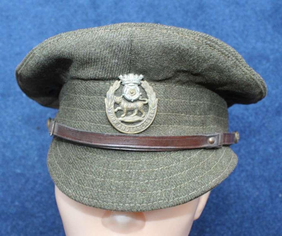 1917 BRITISH WW1 OTHER RANKS WOOL TRENCH CAP YORK & LANCS REGIMENT