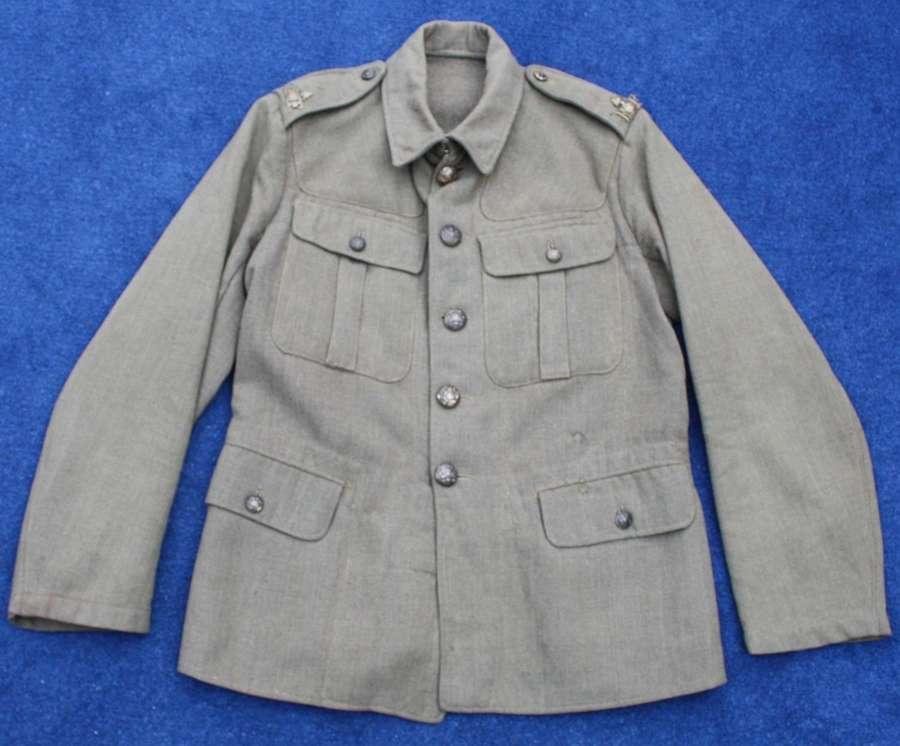 1918 Pattern British Other Ranks Khaki service dress tunic. Dated 1920